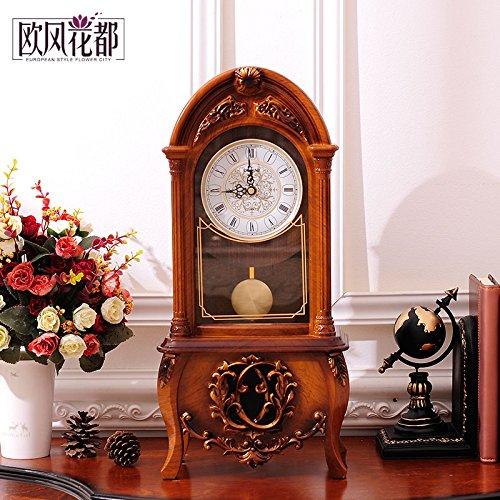 Europäische Retro Wohnzimmer Tisch Clock Clock Bell Schlafzimmer Dekoration Stil Pendeluhr Kreativ Mit Der Stunde Glockenspiel Uhren,Retro Rot