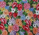 Dekorative Blumendruck 42 Zoll breite Baumwollgewebe für