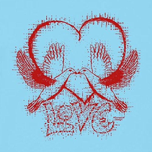 Romantische Valentinstag-Geschenkidee-T-Shirt-Männer Love Farbe: hellblau Hellblau