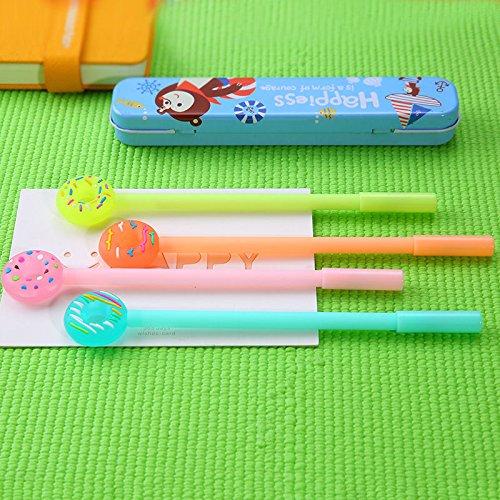 AST Works 4pcs/Set Cute Cartoon Doughnuts 0.38mm Gel Pen Novelty Pen Student Kids Pen Gift