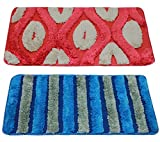 #5: Story@Home 2 Piece Cotton Blend Door Mat Set - 16