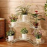 Balkon Doppelte Gewölbe Blumenbehälter Rahmen Blumenbeet Wohnzimmer Boden Blumenrahmen Blumenrahmen Weiß (88 * 25 * 54cm)