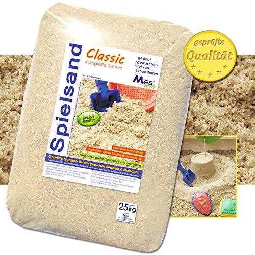 25 kg Spielsand TÜV geprüft TOP Qualität Quarzsand (Sandkasten Sand)