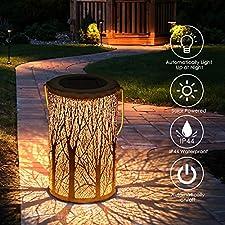 Tencoz Laternen für Draußen, Garten Solarleuchten für Dekorative Atmosphäre LED Garten Hängende mit Laterne Wasserdicht IP44 für Rasen/Hof/Gehweg/Weihnachten-12.5*12.5*20cm 1. Wählen sie einen ort, an dem ausreichend Sonnenschein vorhanden ist, um da...