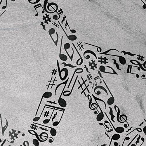 Frieden Schild Musik Rasta Damen S-2XL Muskelshirt | Wellcoda Grey