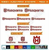 Adesivi stickers HUSQVARNA kit 14 Pezzi -SCEGLI COLORE- moto motorbike Cod.0463 (Rosso cod. 031)