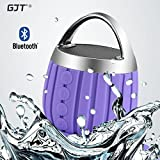 GJT®LP-03 Waterproof Wireless Bluetooth Shower Speaker IPX6 Water Resistant,Bathroom,Pool,Boat,Car,Outdoor Use,Rechargable Battery Support TF