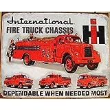 Unbekannt–Platte LKW Feuerwehrmann International Poster Kabelrinnen Deco USA