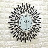 Wmshpeds Creative muro di ferro metallo orologio watch arte europea orologio prigionieri di diamante quarzo Orologio a parete