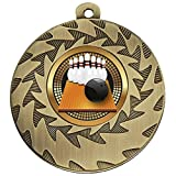 50mm Bronze Ten Pin Bowling Medal Heavyweight with Ribbon and Free Engraving up to 30 Letters - Trophy - amazon.co.uk