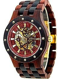 Bewell Madera Relojes mecánico automático reloj de pulsera reloj