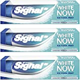 Signal Dentifrice Blancheur White Now Ice Cool Mint 75 ml - Lot de 3