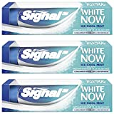 Signal White Now Dentifrice Blancheur Ice Cool Mint 75ml - Lot de 3