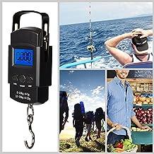 ThrSix - Báscula de pesaje electrónica, balanza de pesca digital con gancho para colgar con