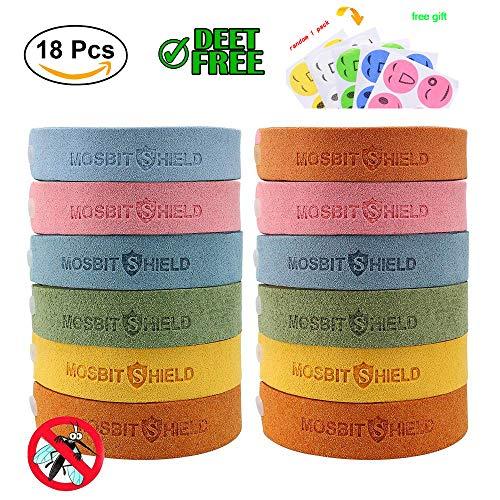 Mückenschutz Armband, Ungiftig Natürliches Material, das für Kinder Erwachsene Älteste, Anti Mücken armband12pcs + Bonus 6pcs Anti Mücken Patches