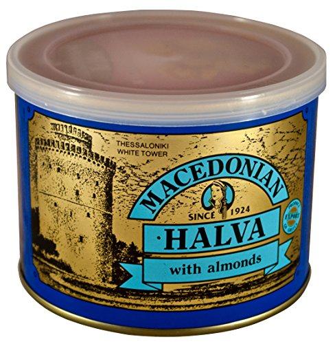 Griechisch Makedonikos Halva mit Mandeln Haitoglou 500gr Blechdose