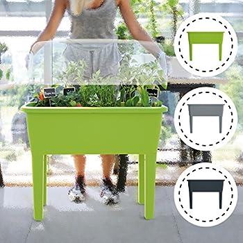 unbekannt hochbeet mit beinen und deckel anthrazit ca 80x40x88 cm inkl haube. Black Bedroom Furniture Sets. Home Design Ideas