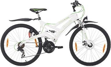 "KS Cycling Mountainbike ATB Fully 26"" for Masters weiß-grün Fahrrad"