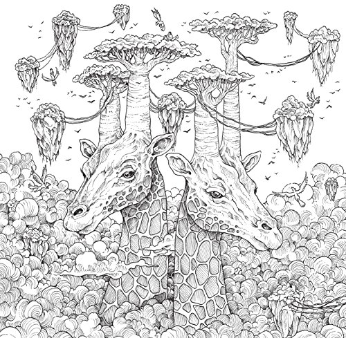 Geomorphia an extreme colouring and search challenge Mythographic animals coloring book