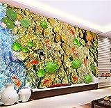 HONGYAUNZHANG Fische Im Wasser Benutzerdefinierte Fototapete 3D Stereoskopischen Wandbild Wohnzimmer Schlafzimmer Sofa Hintergrund Wandmalereien,60Cm (H) X 80Cm (W)