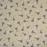 Gardinenstoff Dekostoff natur Lavendel Blumen lila