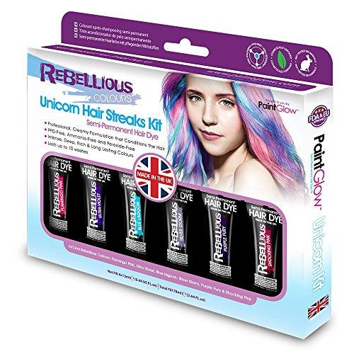 Price comparison product image PaintGlow Unicorn Hair Dye Box Set