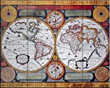 Fliesenwandbildbilder - Antike Karte Terre Universelle 1594 - von Petro Plancia - Küche Aufkantung/Bad Dusche