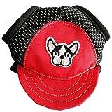 Gaddrt Dog Sun cappello regolabile Pet Dog sport baseball all' aperto protezione solare cappello/berretto, Red, medium