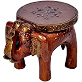 New Year Latest Handicrafts | | Rajasthani Home Decor Handicrafts | Home Decor Gifts | Home Decorative Items In Living Room, Bedroom | Rajasthani Wooden Elephant Stool Handicraft Gift 448