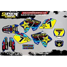 Kit Adhesivos Mate Suzuki RM 125 250 2001 2012 ADESIVI Stickers KLEBER AUFKLEBER