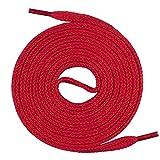 Mount Swiss Lacets plats, qualité premium 100% coton, indéchirables rouges 140 cm