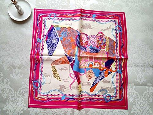 Upper-small carré en soie foulards pour femme foulards pour les enfants d'été sauvage Printemps/été de foulard de soie de mûrier double Silencieux Malaysia-Red