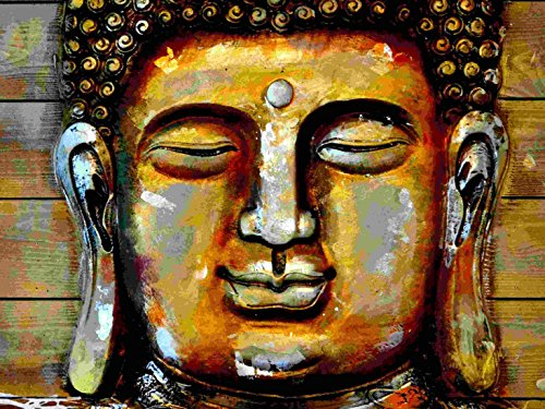 Oil Painting - Enlightened Buddha - Buddha Collection - Small Size Unframed A3 size poster (12 inches x 17 inches) For Home And Office Interior Decoration by Tallenge  available at amazon for Rs.169