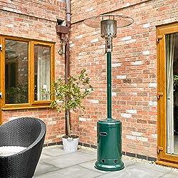 Kingfisher Pheater1- Chauffage à gaz - pour terrasse, Jardin, extérieur Autoportant 81.3x81.3x226 cm Vert