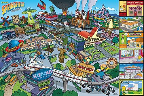 GB eye LTD, The Simpsons, Locations, Maxi Poster, 61 x 91,5 cm