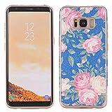 Weiche Backcover für Galaxy S8 Plus, TechCode Blumenmuster TPU Weiche Schale Super Dünn und Leichte Schützender Hülle für Samsung Galaxy S8 Plus (Galaxy S8 Plus, A01)