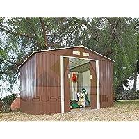 Caseta Cobertizo de Metal para Jardin Space Marron