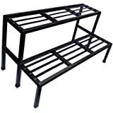 A-One Steels 2 Step Garden Plant Stand Pot Holder (Black)
