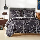 Bettbezug Set, Morbuy 135 x 200 cm Einfach Muster Bettwäsche Set 100% Polyester Mikrofaser Printing Bettbezug Set(135 x 200 cm (53 * 79 inch), Baum Pattern)
