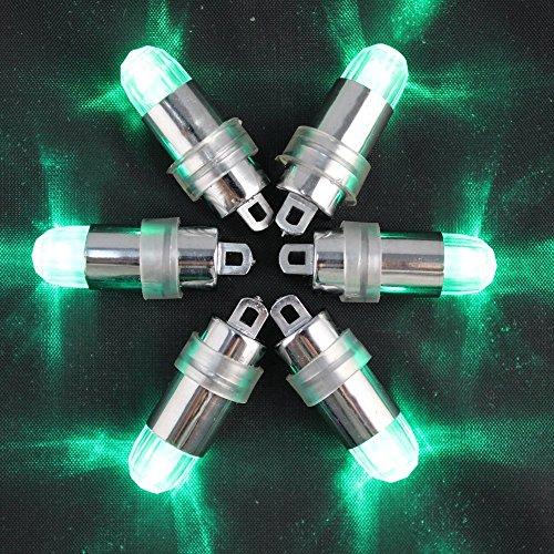 Mini batteriebetriebener LED Ballon beleuchtet nicht blinkende Partei beleuchtet für Papierlaterne-Ballon-LED Licht, Papierlaterne-Ballon-Dekoration LED-Licht, Hochzeits-Party-Dekorations-Licht (Pack of 12) (Grün)