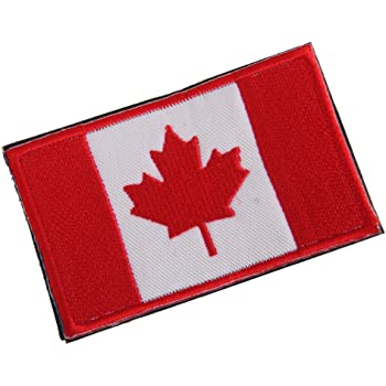 1pc Canada Maple Leaf Flag Cloth Badge Embroiderd Patch No Sew 8 x 5cm df410b95c870