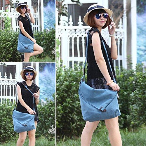 Supa Moden,borsa da spalla in tela, tracolla, shopper, donna, Grey Blue