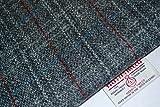 Harris Tweed Stoff 100% reine Schurwolle grau rot & weiß