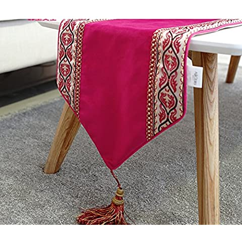 Semplice e moderno tavolo da pranzo table runner/ coffee table table runner/ bandiere di colore solido del letto elegante/ tavolo-A 30x180cm(12x71inch)