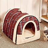 Berrose-Pet Dog Cat Bed House Warm Soft Mat Bedding Igloo Basket Kennel Washable Snug Haustierbett Haustierkissen Hundebett Katzenkissen Schlafsack für Katzen, Hunde, Kaninchen