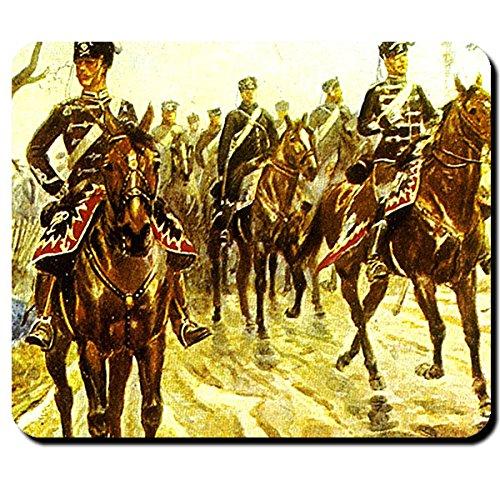 Preussische Husaren Leichte Kavallerie Preußen Schlesisch Friedrich der Große Reiter Soldat Schlachtross - Mauspad Mousepad Computer Laptop PC #16203 (Uniform Leichte)