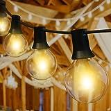 Guirlande Lumineuse Extérieure,Kolpop 10M G40 Guirlande Guinguette 30 Ampoules+6 Rechange,Guirlande Electrique Exterieur Étan