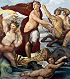 Fine Art Print – Triumph Of Galatea Detail von Bentley Global Arts Gruppe, Papier, multi, 11 x 13