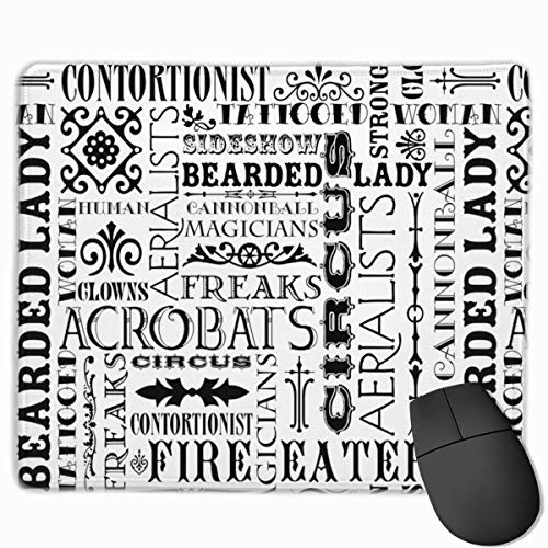 Circus Words Gaming Mouse Pads Mousepad Home Mats 9.8