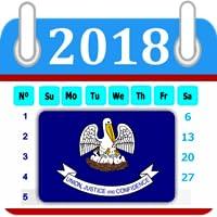 Louisiana Calendar 2018 Holiday